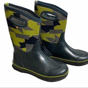 Bogs Kids Classic Geo Navy Snow/Rain Boots SZ 6